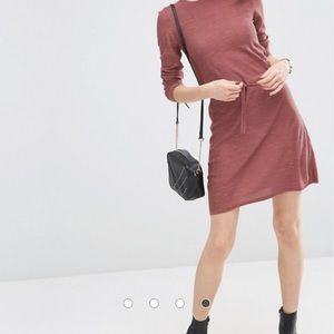 ASOS Dresses - ASOS LOUNGE Dress In Knit With Tie Waist Detail